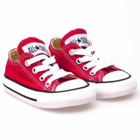 Tenis Rojos Converse All Star 100% Originales Para Bebes