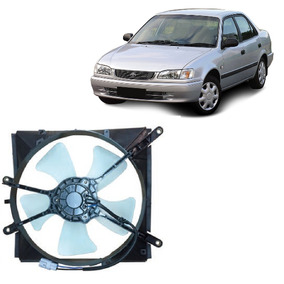Ventoinha E Defletor Radiador Corolla 1993 A 2001 Original