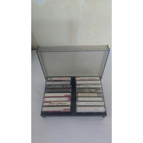 Porta Fitas K7 16 Fitas Áudio Acrílico Plástico Frete Grátis