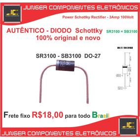 Diodo Schottky Sr3100 - Sb3100 - 3a/100v - Sr3100 -sb3100 .