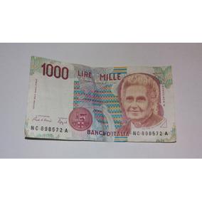 Cédula De 1000 Liras (itália) Ano 1990