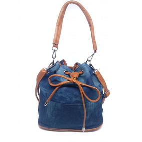 Bolsa Feminina Saco Bucket Jeans Transversal Lançamento 9b1f41f9652