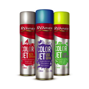 Tinta Spray Colorjet Renner Cores Luminosas