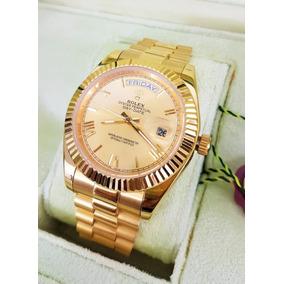 Reloj Rolex Day Date Oro Amarillo Esfera Dorada Num Roma Aut