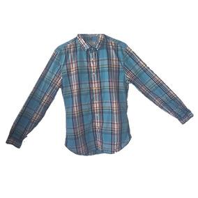 Camisa De Niño,dockers,talla S/p/ch,de Cuadros,color Azul