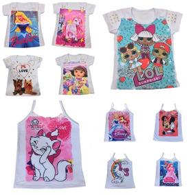 10 Camiseta Blusa Infantil Feminina Roupa Menina Atacado