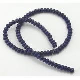 Jade Safira Azul Natural Rondel Fac 6mm 99 Pç Milpedras 2062