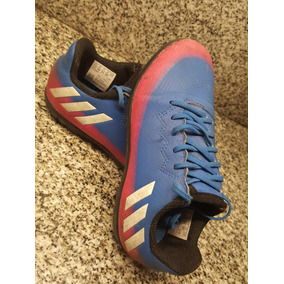 36d0550d Botines Adidas F5 Messi Azules - Botines Futsal para Adultos, Usado ...