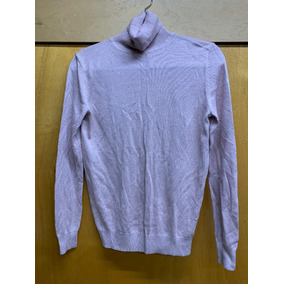 Sweater Cuello Alto, Seda/cachemira Moda International Mujer