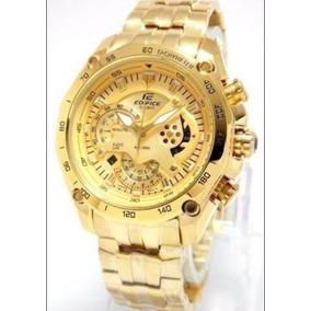 8458b43e91b Relogio Casio Edifice Quadrado Dourado - Relógios no Mercado Livre ...