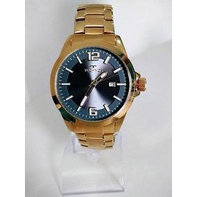 Relógio Technos Masculino Aço Dourado Visor Grafite 2115kpx