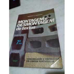 Montagem E Desmontagem De Textos 7a Série Sargentim Professo