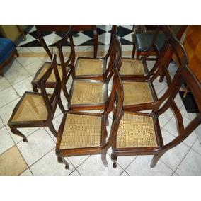 8 Cadeiras De Jacaranda Maciço