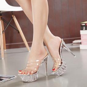 Sandalias Zapatos Con Tacon Alto Elegantes Ultima Moda - Zapatos ... 3e7852db65be