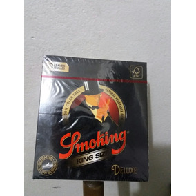 Seda Smoking De Luxe Preta Black Atacado Com 50 Livretos