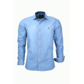 Camisa Luxo Jeans Casual Social Masculino 4 Cores