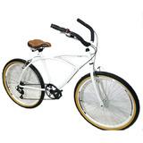Bicicleta Aro 26 Caiçara Vintage Retrô C/marcha Branca
