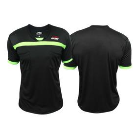 Camisa De Arbitro Futebol Preto C  Verde Ideias Original b3b3c9e42d999