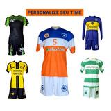 2bc3739f2f Kit 10 Camisas Time Futebol Society Futsal Personalizadas