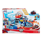 Pista Persigue Y Captura Flip Racers Rescue Bots Transformer