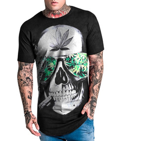 Camiseta Masculina Longline Caveira Mary Jane Swag 1726 8b3fca1d10b