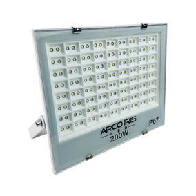 Refletor Holofote Microled 200w Multifocal Branco Frio Ip67