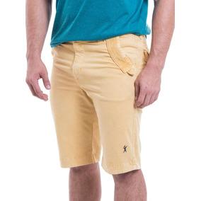 Bermuda Masculina Color Mostarda Elastic - Não Perca