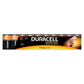 10 Paquetes Pila Duracell Alcalina D Con 10 Pilas C/u