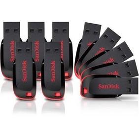 Kit Com 10 Pen Driver - 16gb Sandisk Original Lacrado