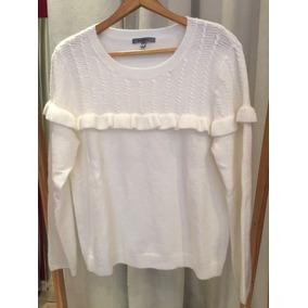 Hermoso Sueter Blanco Con Volados - Sweaters de Mujer en Mercado ... bdd2648edb22