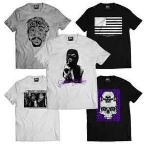 Camisetas Atacado Swag Hip-hop De Marcas Kit 3 Frete Grátis cd19ce96bc0