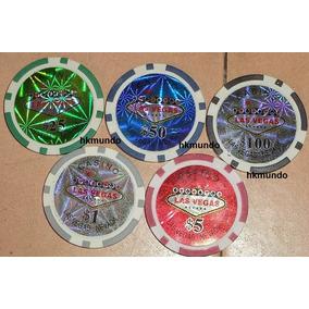 5 Fichas Poker Profesional Denominacion 11.5gr Las Vegas