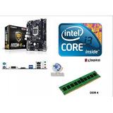 Combo Motherboar Gigabyte H110+procesador Cori3+ddr4 8gb 7ma