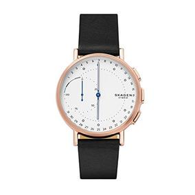 Skagen Reloj Elegante Híbrido De Cuero Conectado Signatur 7c0b0e00374e
