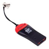 Adaptador Leitor Usb Cartão Microsd Micro Sd Frete Grátis Br