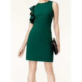 Vestido verde esmeralda para senora