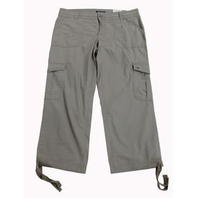 ab4a65a4c4 Pantalon Pescador W Bethany Crop Cargo Verde 100% Algodón