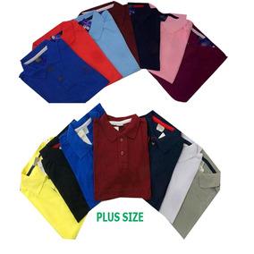Kit Com 10 Camisa Polo Masculina Plus Size G1 G2 G3 Atacado 751a810e4e050