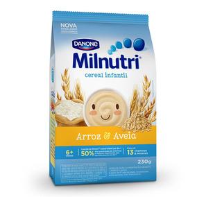 Kit 8 Cereal In/ Sabor Arroz E Aveia Milnutri Danone 230g