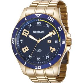 Relógio Seculus Masculino Long Life 28988gpsvda2