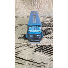Miniatura Ônibus De Viagem Azul Com Luzes 26 Cm* Cod. 00280