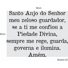 Adesivo Santo Anjo Do Senhor Meu Zeloso Guardador dbf59827204
