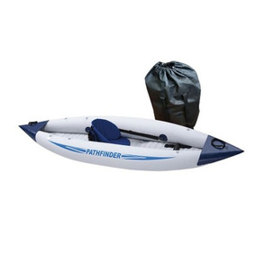 Kayak Inflable Pathfinder 1 Pers Completo Remo Asiento Bolso
