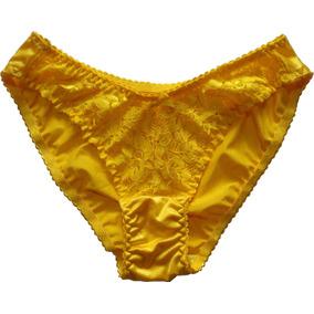 Pack 2 Panty Bikini Satín Brillante Importada De Japón
