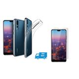 Forro Estuche Transpare + Vidrio Templado 5d Huawei P20 Lite