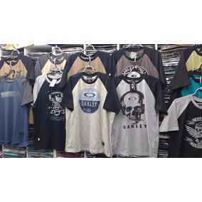 Camisa Camiseta Oakley Raglan - Camisetas e Blusas no Mercado Livre ... 8ecc5b800fc