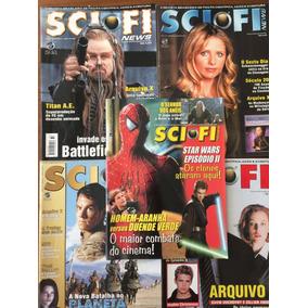 Lote 5 Revistas Scifi News Otimo Estado