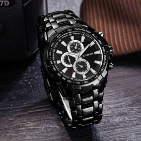 Reloj Curren Negro Caballero Metal Exótico Elegante Original 9d886d914f74