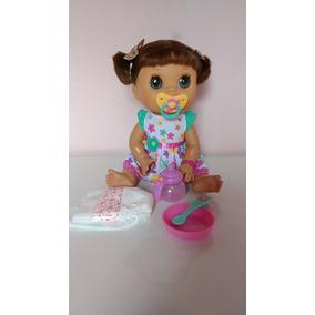 aed5ac1838 Baby Alive Comer Brincar Morena Bonecas E Acessorios - Brinquedos e ...