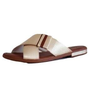 1286fa2c5 Chinelo Conforto Idoso Feminino Usaflex - Sapatos Dourado escuro no ...
